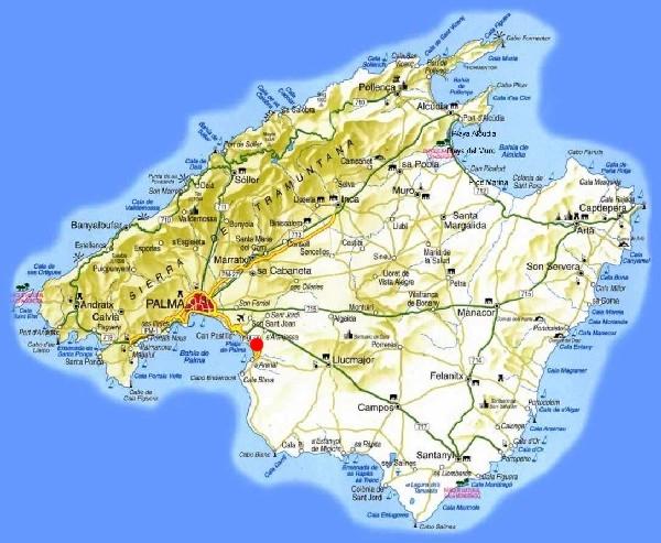 Mallorca Karte Playa De Muro.Mallorca Playa De Palma Karte Kleve Landkarte